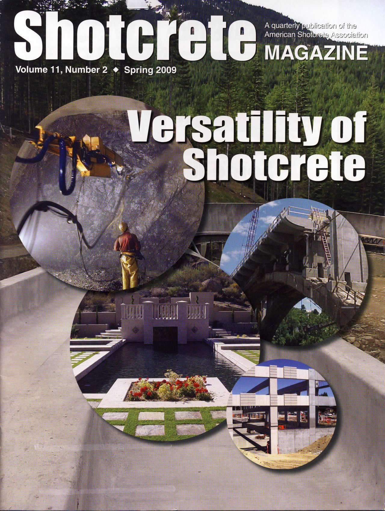 Shotcrete Magazine Cover- Spring 2009