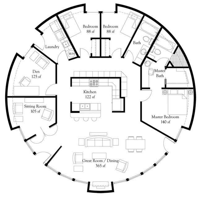 """Monolithic Dome Home Plans: """"President's Choice"""" Monolithic Dome Home Plans"""
