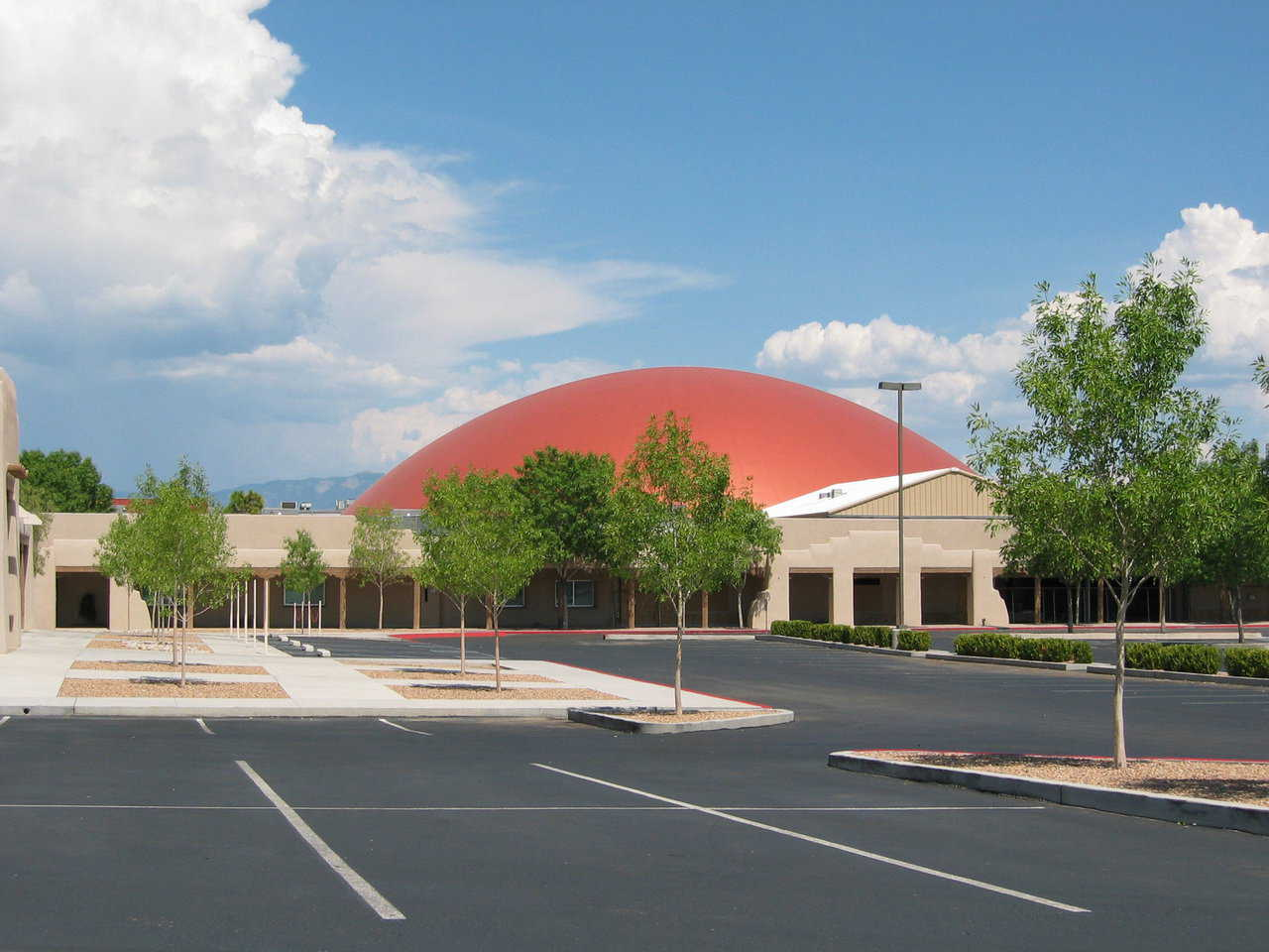 Legacy Church — This 192' dome, Legacy Church, was built in 2004. It is a 3000 seat church in New Mexico.