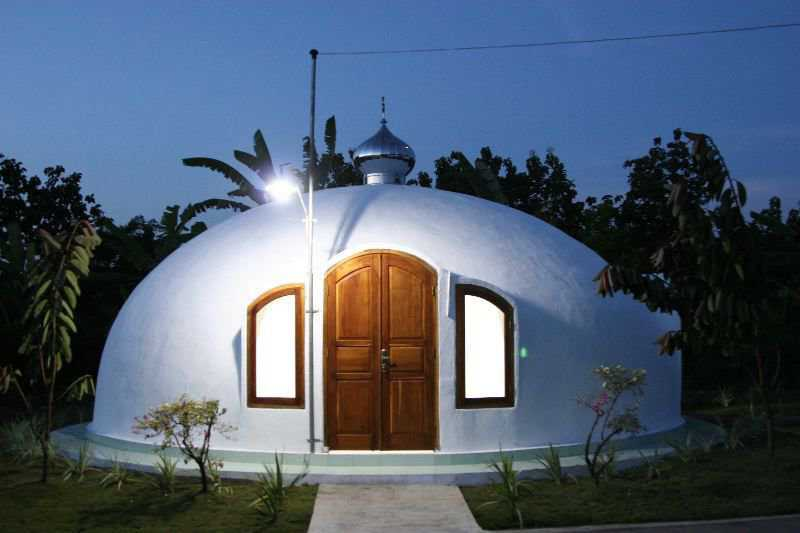 Indonesian Mosque — This small Mosque was built in Indonesia by Dome for the World. Its an Ecoshell II that was built in the small village called New Ngelepen.