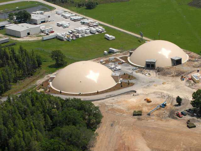 ABC Domes, Lakeland, Florida — ABC Domes of the Lakeland Florida Business Continuity Center, off Interstate 4, between Orlando and Tampa.