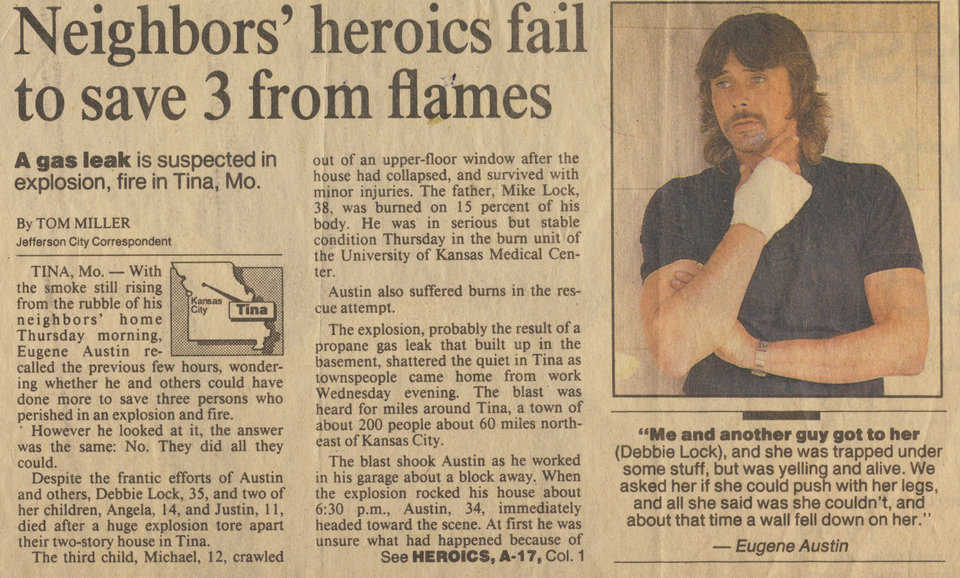 News Article  — William Singer's neighbors conventional home failed to protect from fire.