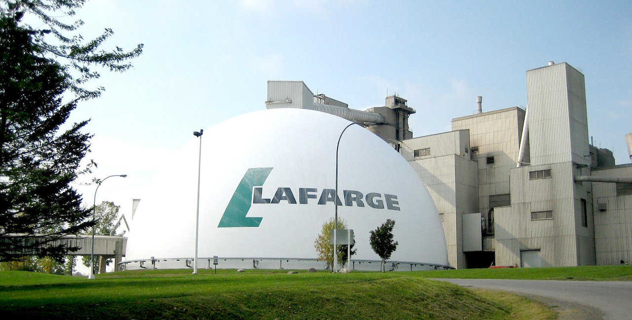 Lafarge Cement Plant — Located in Ontario, Canada, Lafarge's storage dome can hold 40,000 tons.