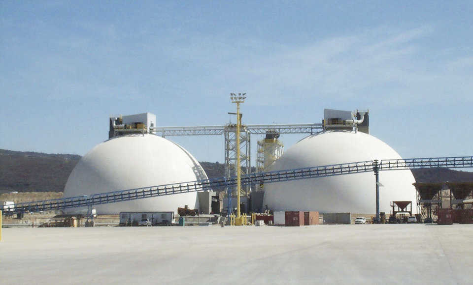 Hawaii Cement — This cement storage dome is located in Kapolie, HI.