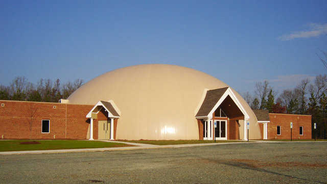 Lake Christian Church — Located in Palymra, Virginia, this Monolithic Dome church was designed by D. Thomas Kincaid, A.I.A.