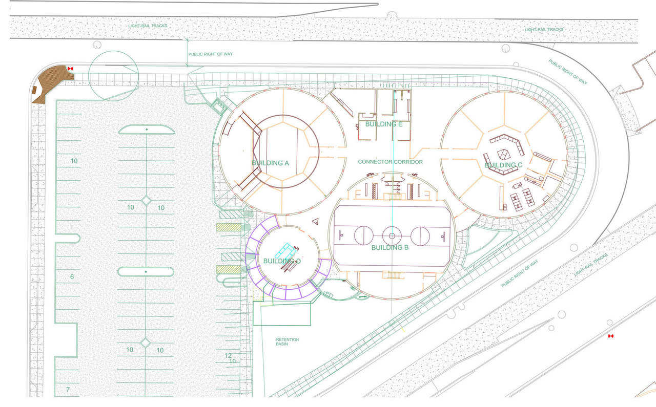 Rendering — The final bid process for the Duffy High School was completed in Jan. 2009. The building itself was $2.81 million or approximately $123 / Sq.ft. The current Arizona average for public schools is $201/sq.ft. The total project bid including site development parking utilities and street improvements was approximately $3.2 million.