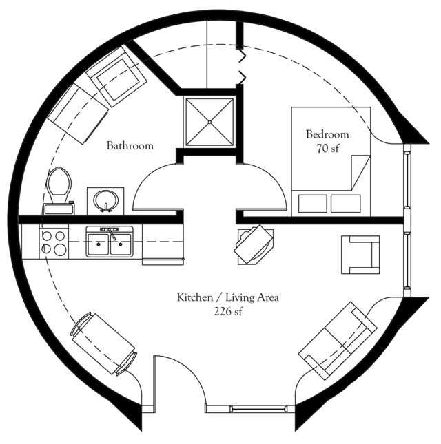 "Dome Home Design Ideas: ""President's Choice"" Monolithic Dome Home Plans"