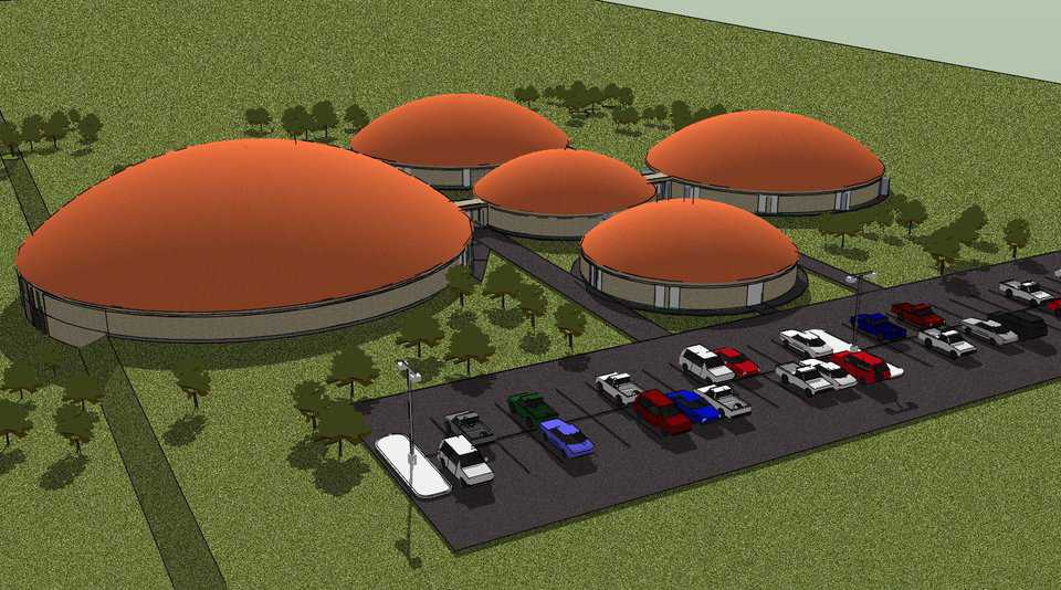 Geronimo ISD, Geronimo, Oklahoma — In Geronimo, school officials opted to go with five modular Monolithic Domes or pods. It will be the first school in the nation to adopt the concept of modular dome buildings.