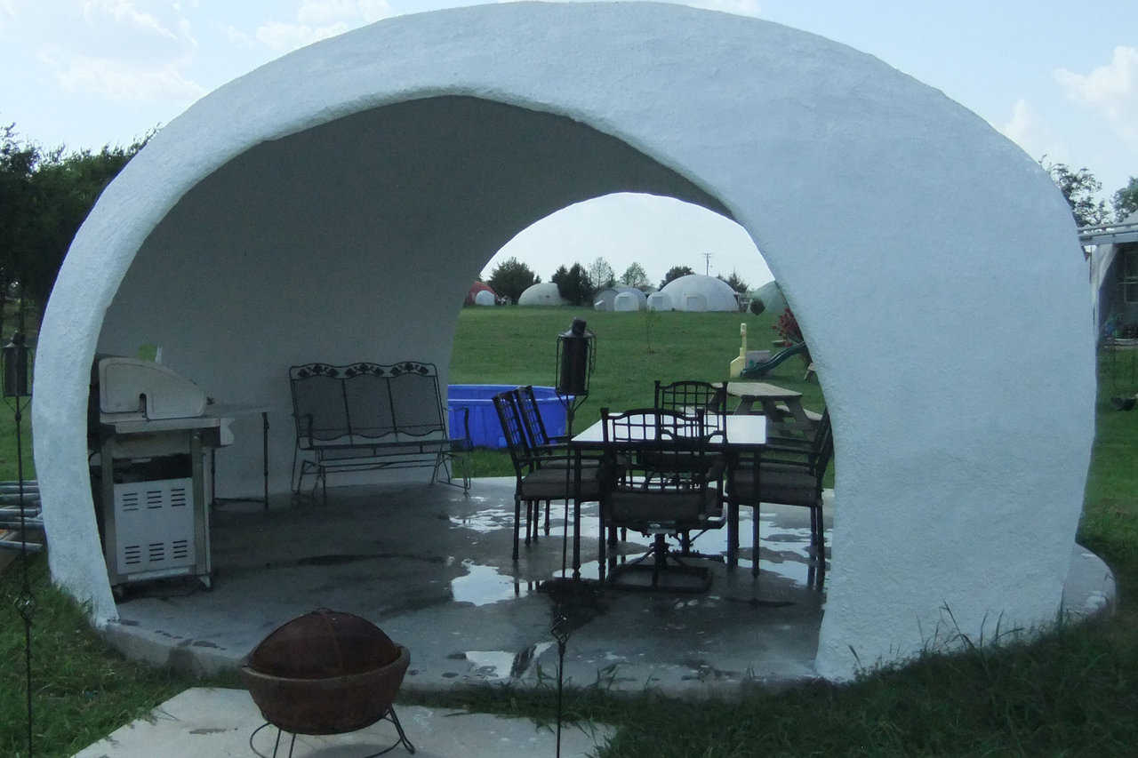 Easy and fun to build! — The Monolithic Gazebo has a 20' diameter and can be constructed by hand.