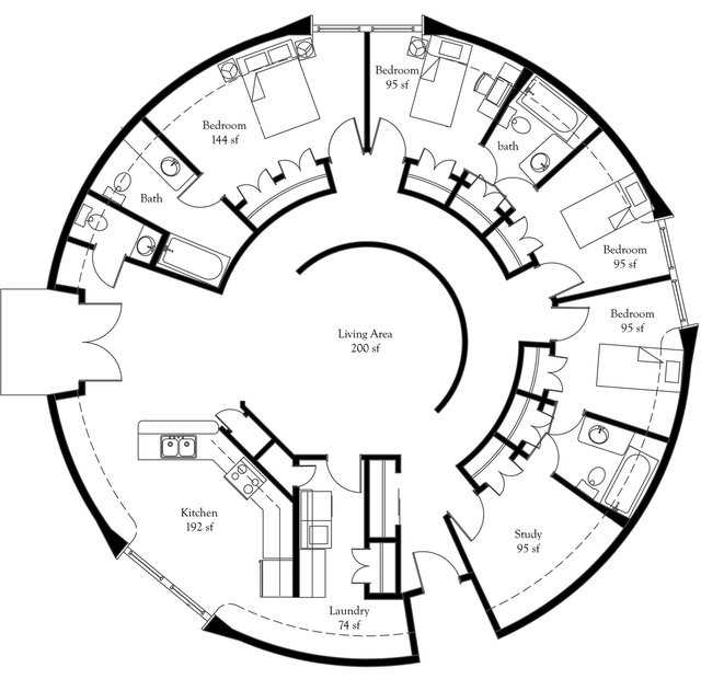 "Dome Home Blueprints: ""President's Choice"" Monolithic Dome Home Plans"