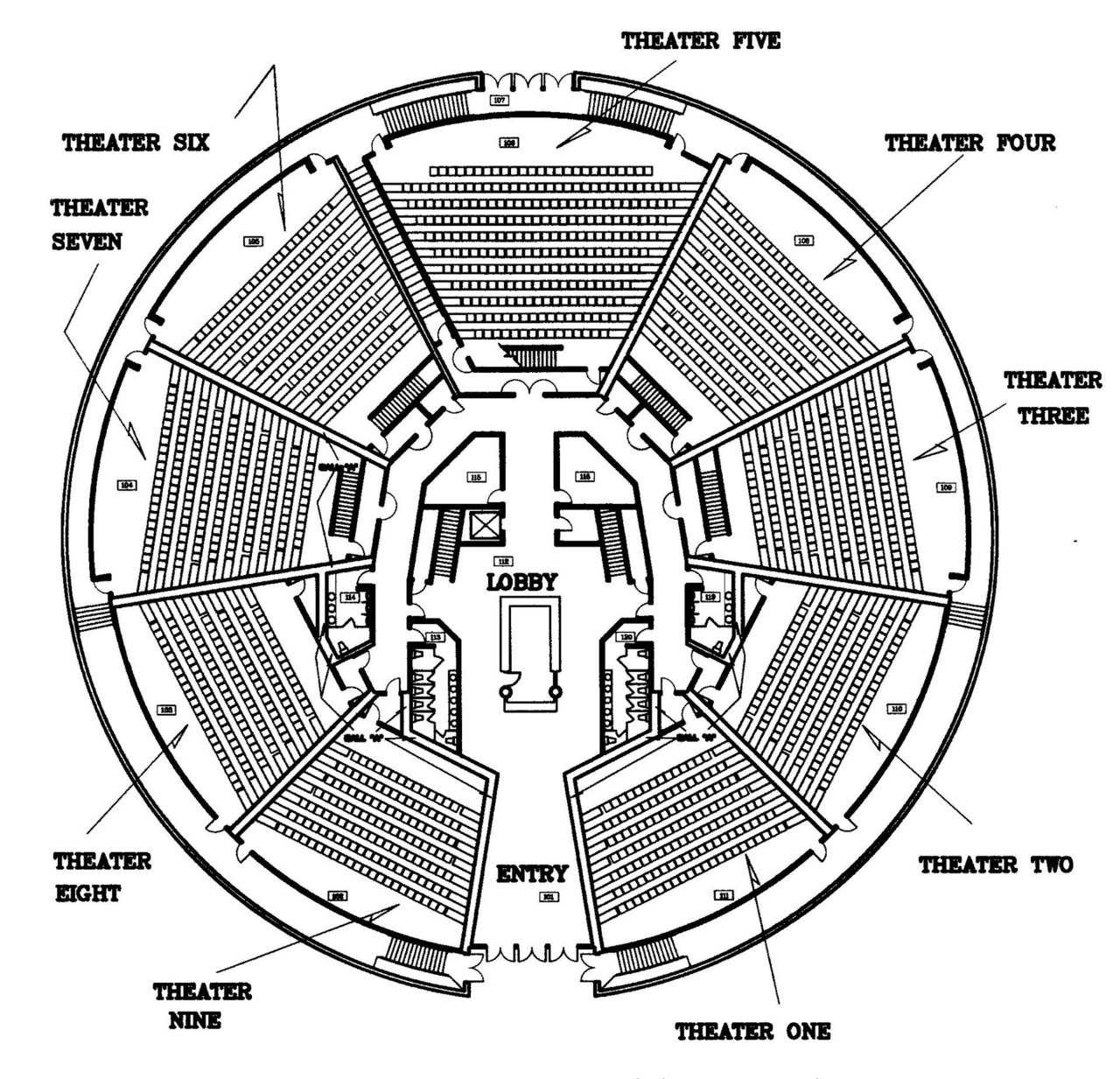 Movie Theatre sample floor plan