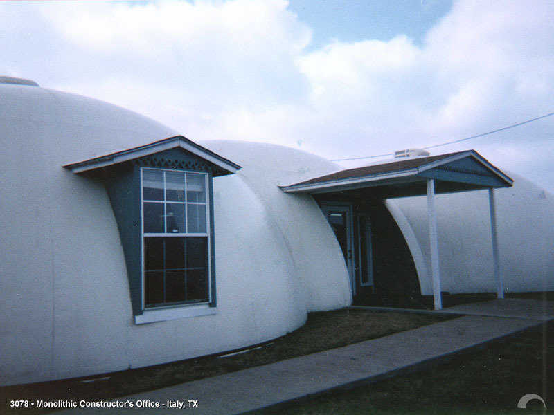 Monolithic Training Center — The Monolithic Training Center is located on the Monolithic Dome Institute campus in Italy, Texas.  Four times yearly Monolithic Dome construction workshops are held here.