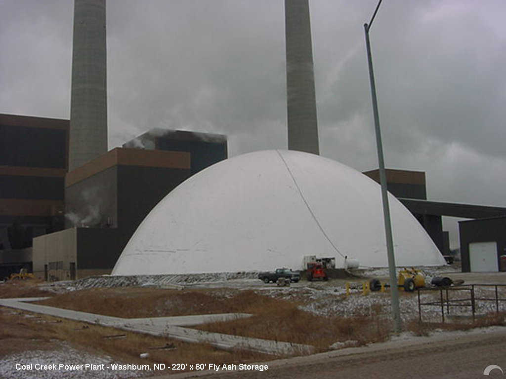 Fly Ash Storage — This award winning fly ash storage for Great River Energy's Coal Creek Power Plant in Washburn, North Dakota measures 220′ × 80'.