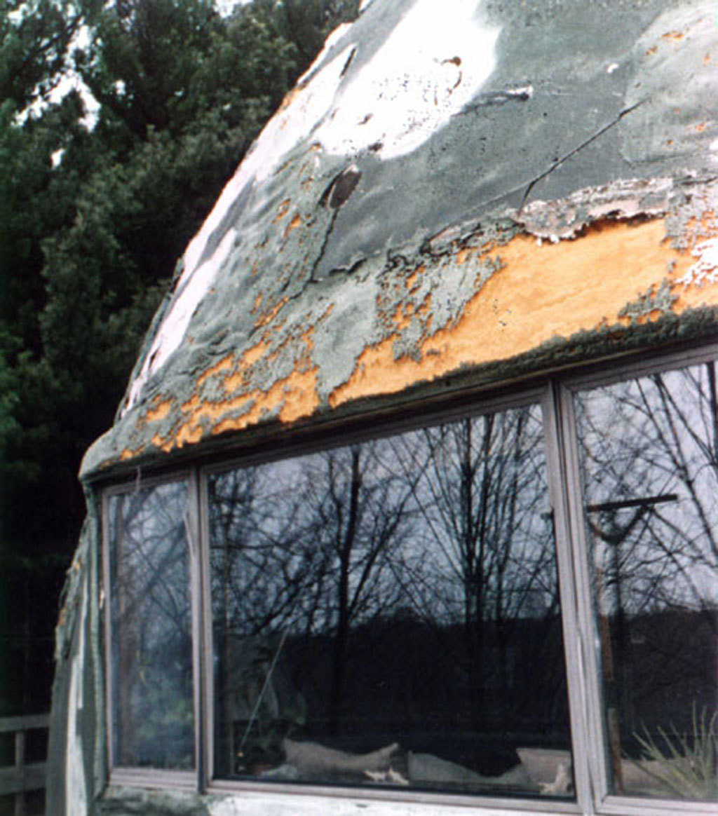 Really nasty! — Coating on this dome completely failed and left the foam exposed to ultraviolet rays that will break down the foam rapidly.