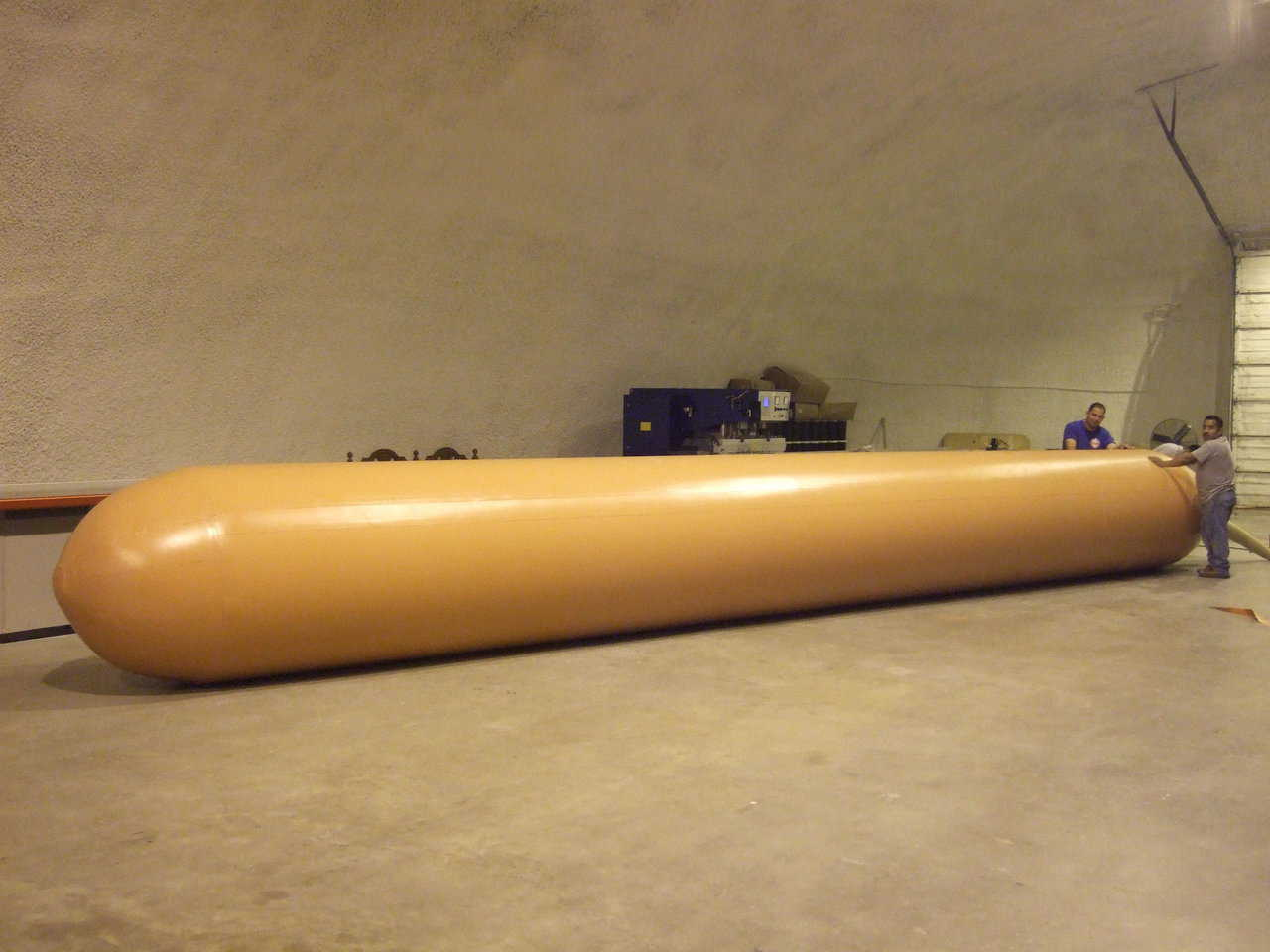 Airform being tested — This is a 10 meter long culvert Airform that is being tested at our facility in Italy, Texas.