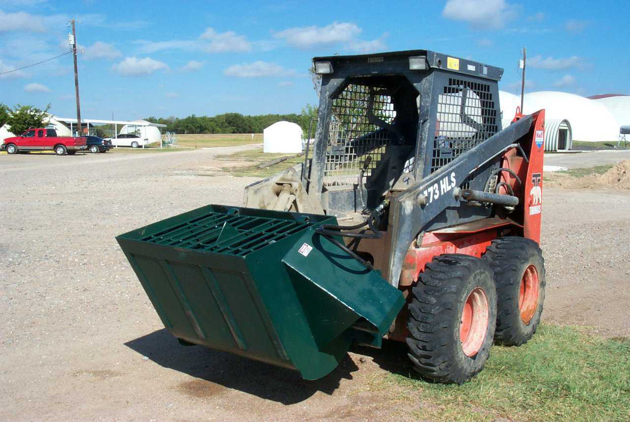 The Monolithic Concrete Mixer — The Monolithic Concrete Mixer, when attached to a skid-steer, is the ultimate in portable concrete mixing.  It can hold about 1/4 cu. yd. of concrete, and can mix up to 5 yards an hour with an experienced driver.
