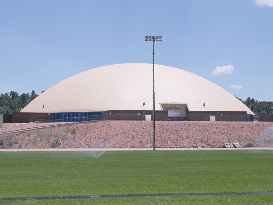 Payson Athletic Center — This Monolithic Dome was designed as a Multipurpose Educational Facility for Payson High School in Payson, Arizona.