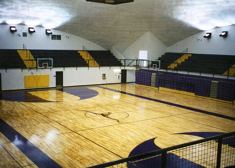 Super court — Dome features one competition court that splits into two practice courts, four coaches' offices, two sets of boys' and girls' locker rooms and storage space.