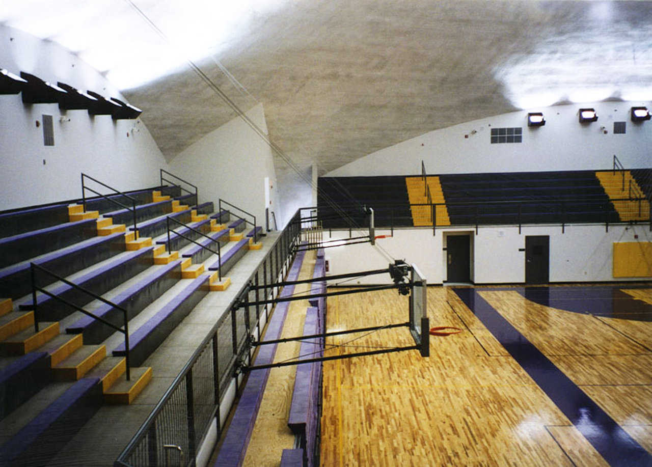 Seating — Payson's new dome gymnasium seats 2,400 — four times more spectators than the school's old gym.