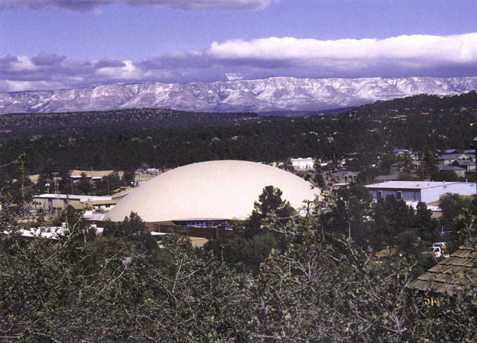 Mongollon Rim — It can be seen just beyond the dome.