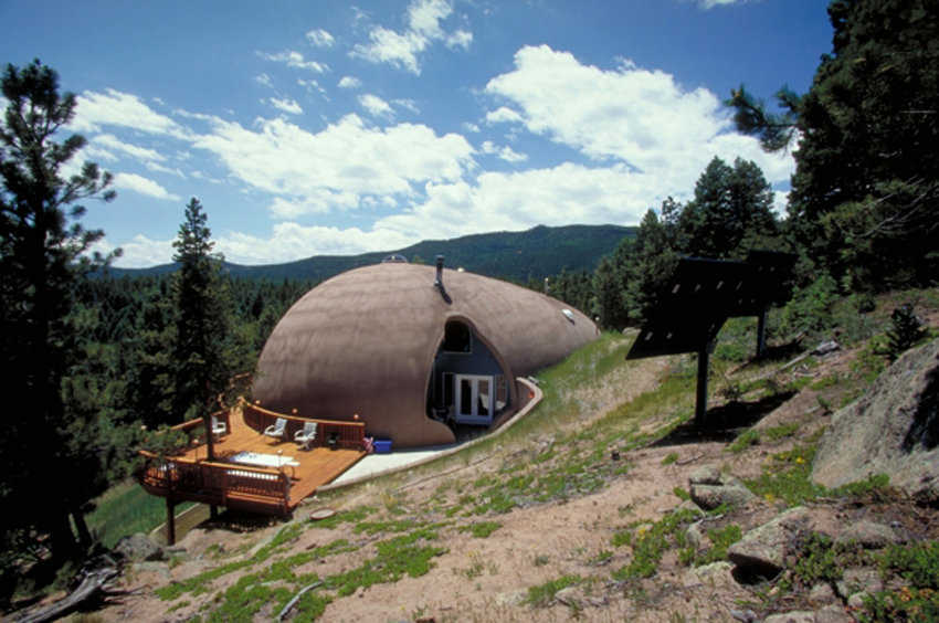 On a Hillside — A Monolithic Dome can be built on a hill or mountainside, a valley or even over water.