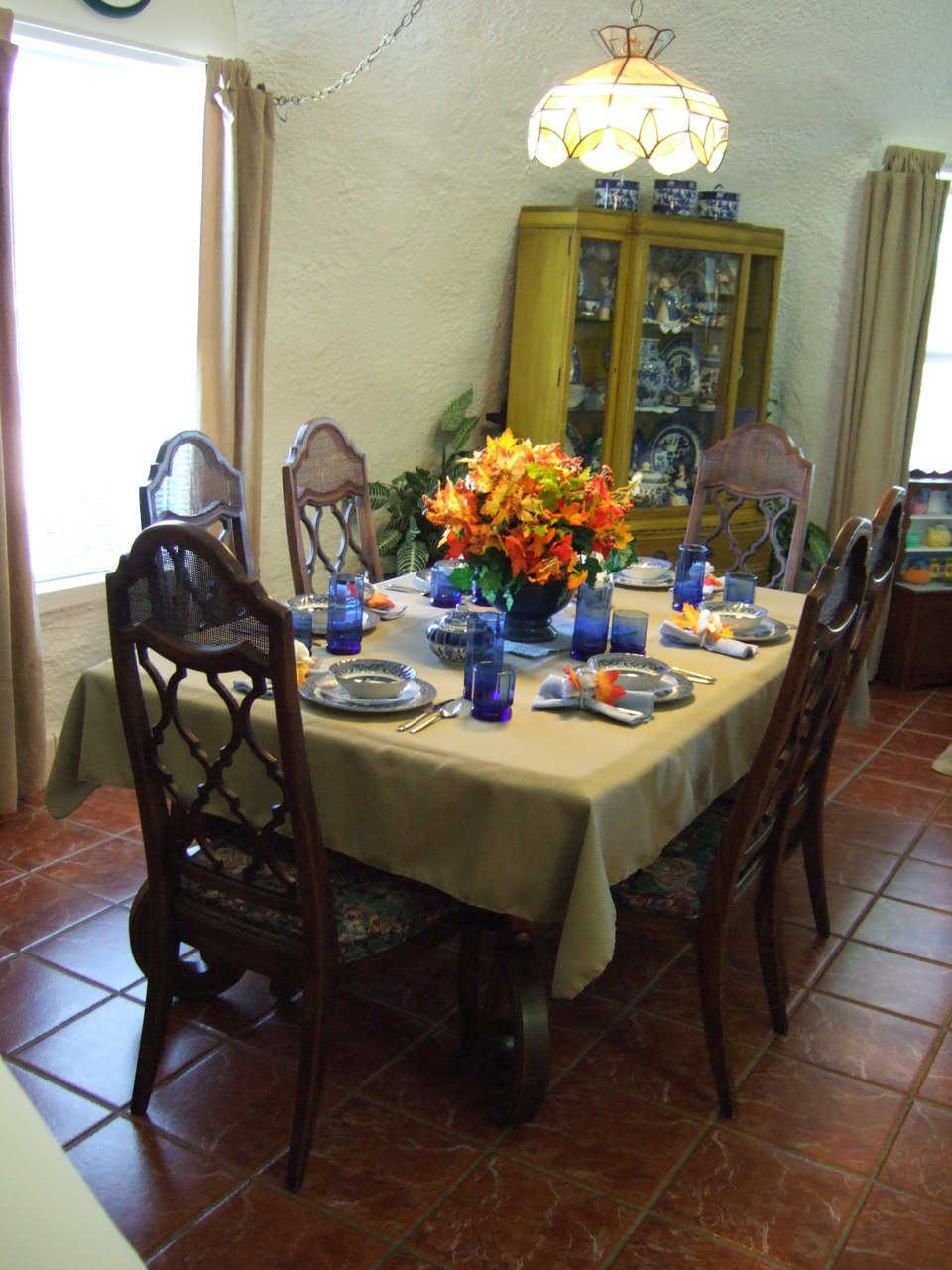 Dining area — It's located just off the kitchen and adjacent to the living area.