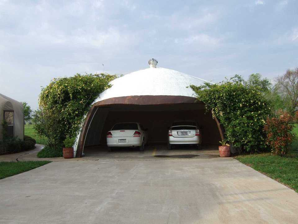 Garage — This two-car garage is a Monolithic EcoShell.