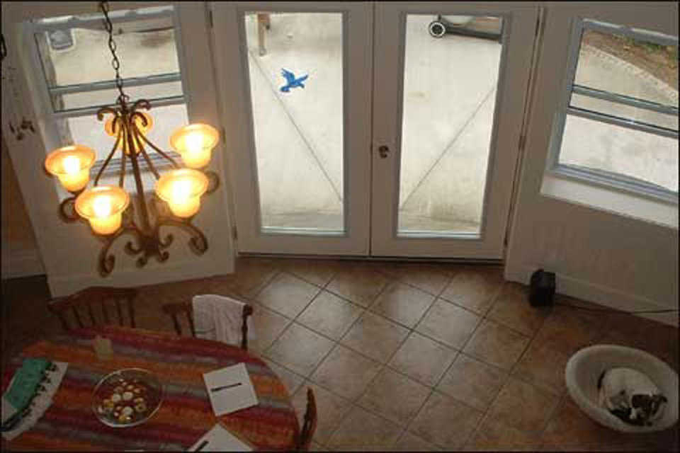 Tile — The Cushnies installed an earth-tone ceramic tile floor.