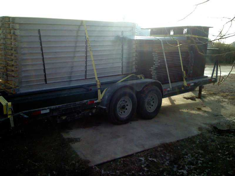 Loaded trailer — Ready to be transported
