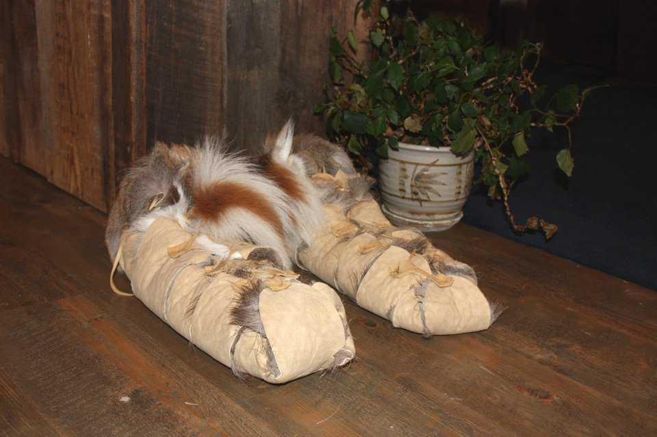 Hobbit Feet — Steve fashioned a pair of slippers into hairy Hobbit feet that you can slip into and join the fun at Hobbit House of Montana.