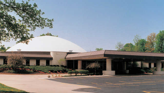 This 190-foot diameter dome sanctuary is the center of the facility and can accommodate approximately 3,000 people.