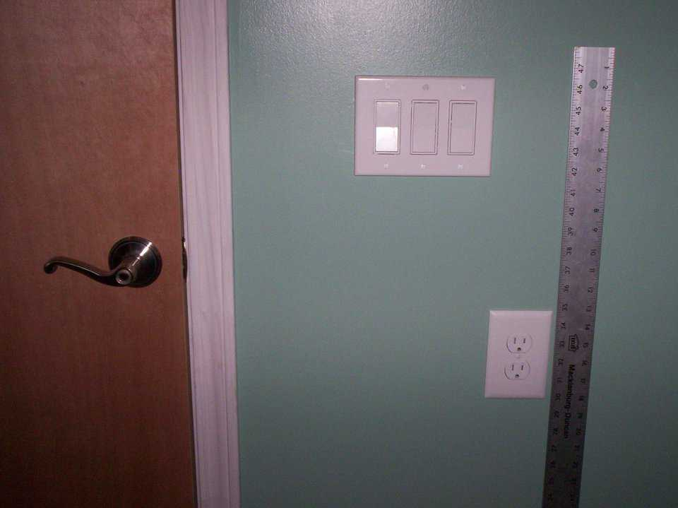 "Universal Design Elements — Contrasting colors and trim work, full hand grip door handles, rocker switches on contrasted switch plates and wall receptacles 30"" off the floor can be easily seen and manipulated."