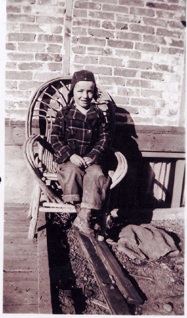 A young Arnold — Seven-year-old Arnold in Payson, Utah.