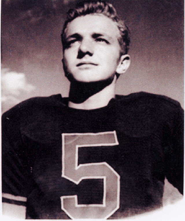 Arnold played footbal — He was kicker for Springville High School.