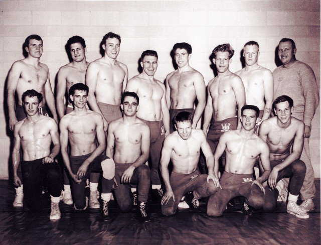 Brigham Young University Wrestling Team — Arnold (lower left side) was a 4-year letterman and team captain twice.
