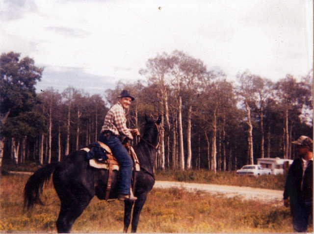 Horseman — Arnold and family used horses for deer and elk hunting and recreation.