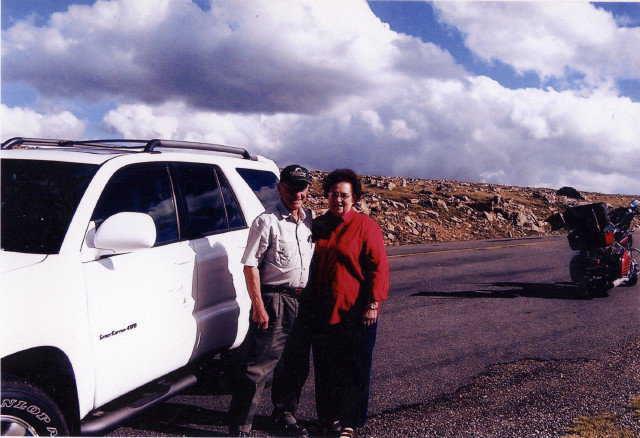 In the Rockies — Traveling and camping is a favorite pastime for Joyce and Arnold.