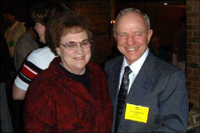 Conference Speaker — Joyce and Arnold at a Monolithic Dome Conference