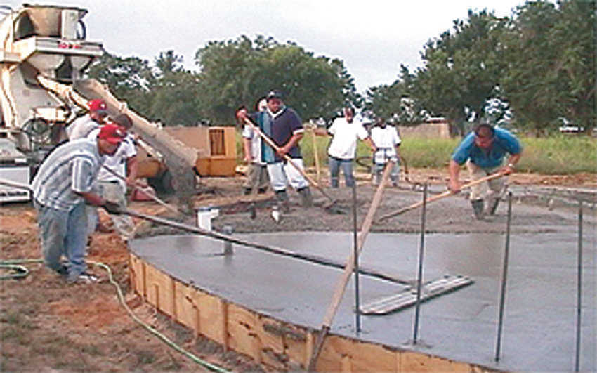 Step 7: Pouring Concrete