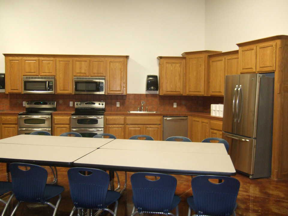 Kitchen Classroom — Students hope to cook up some luscious dishes in their new kitchen.