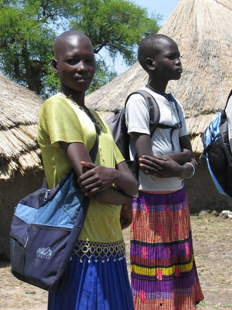 Backpacks — On their second trip to Sudan, Kristy and Abraham distributed more than 350 backpack kits including exercise books, pens, and pencils to the students in Yomchiir and Leilir Primary Schools. They still have 1 ton of school supplies to ship and distribute to the children in Southern Sudan.
