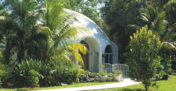 Safe Harbor — The Elkins built this 4000 square foot, luxury reinforced concrete Monolithic Dome in Florida and named it Safe Harbor.