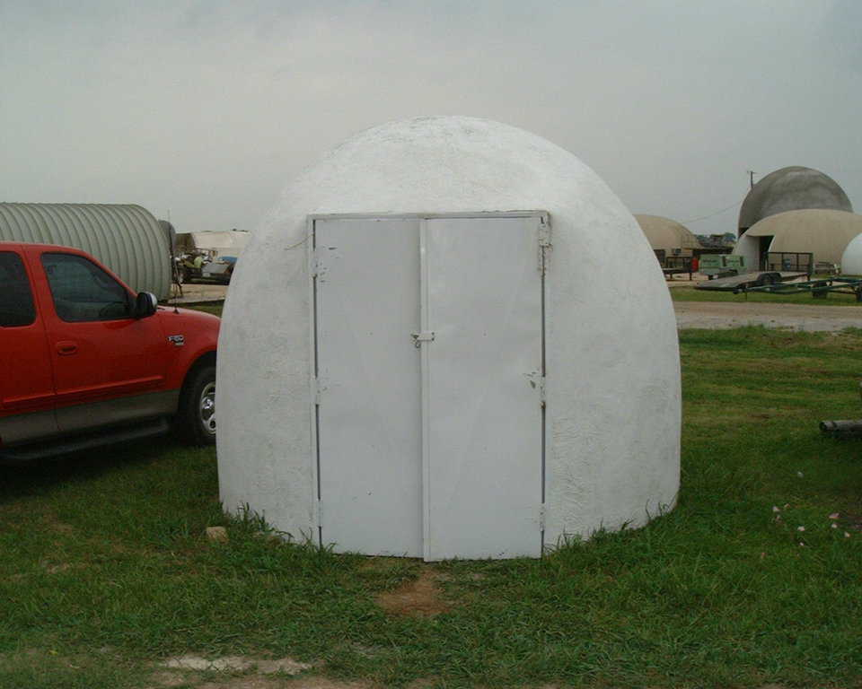 Ecoshell coated with white exterior paint — 10-foot EcoShell painted with a good grade of white exterior paint.