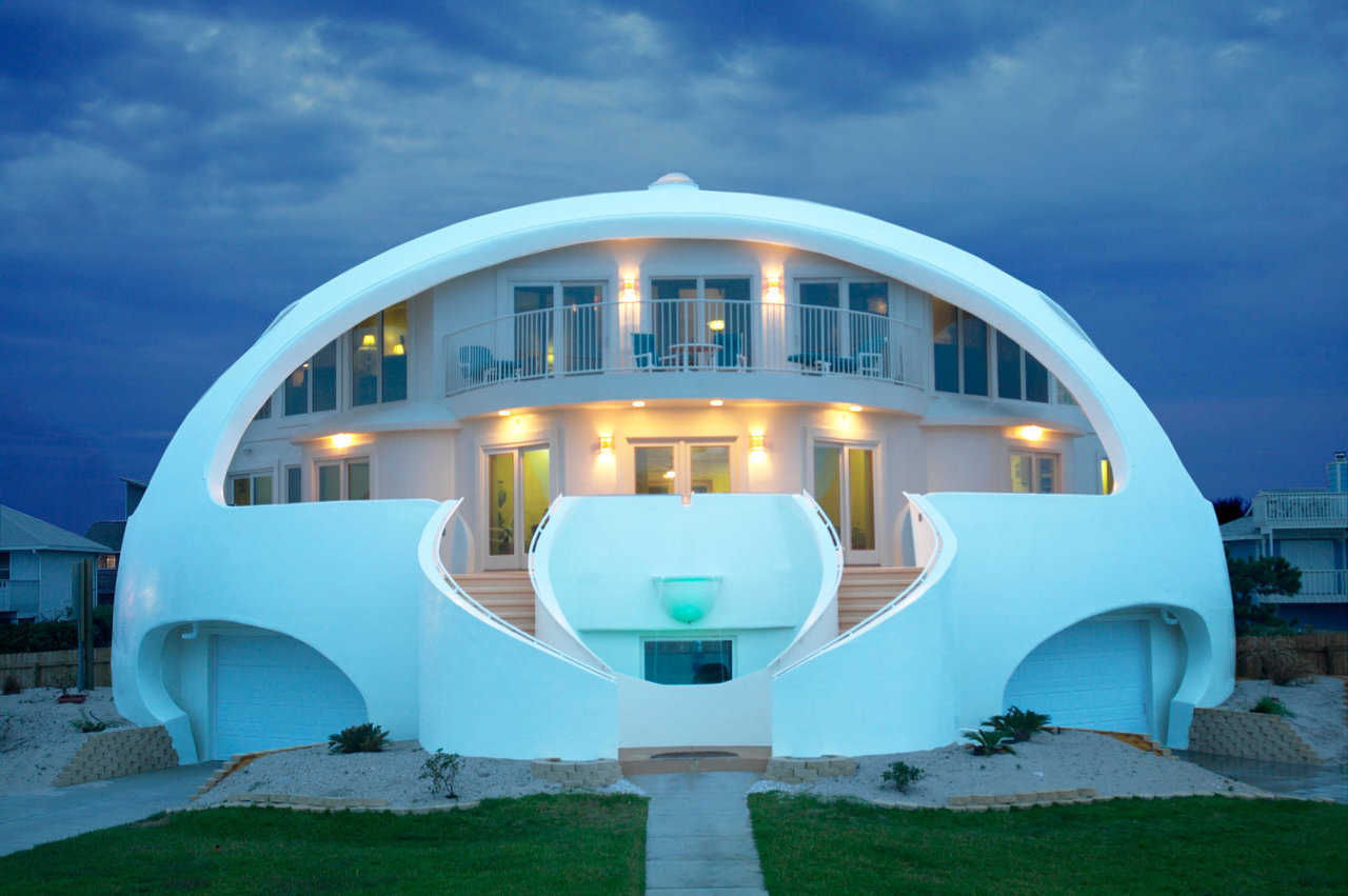 Dome of a Home — This fabulous Monolithic Dome home on Pensacola Beach, Florida has successfully survived more than one hurricane. In 2004, the owners and an NBC News crew had permission to stay in this dome during Hurricane Dennis.