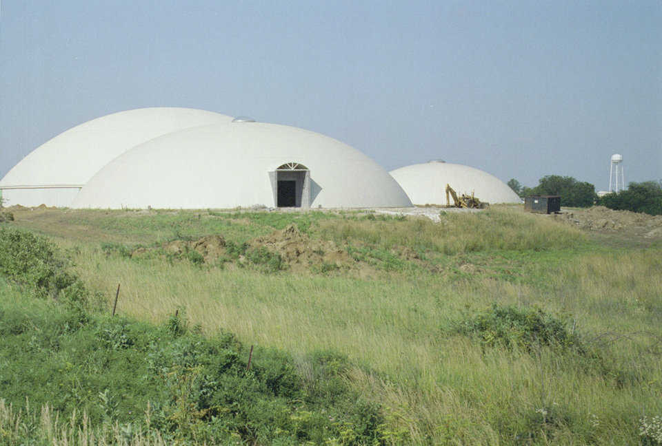 Domes — The largest has a diameter of 150 feet. Three others each have a diameter of 110 feet.