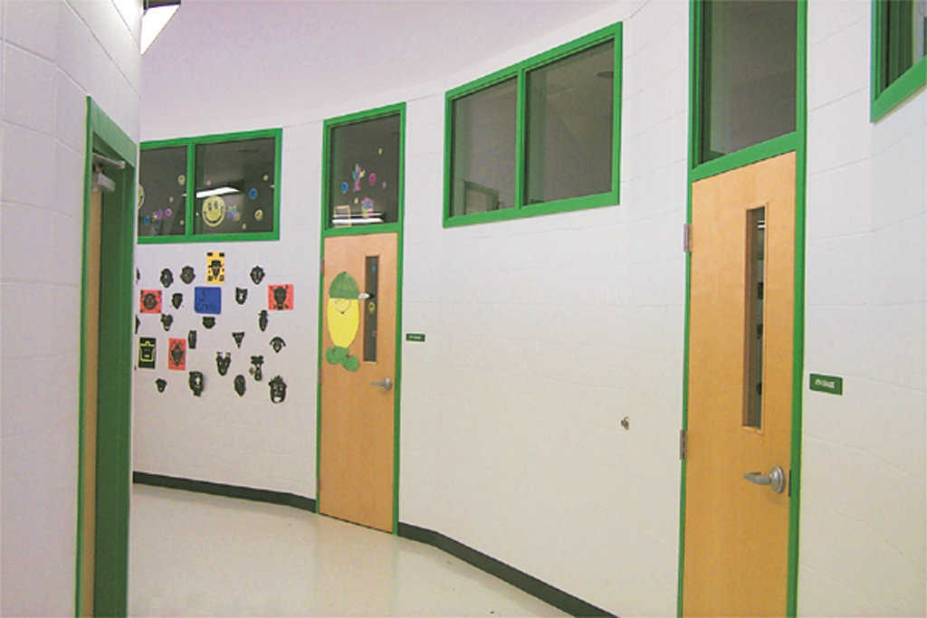 Principal's Office — The centrally located principal's office is easily accessed from all surrounding classrooms and hallways in the elementary school.