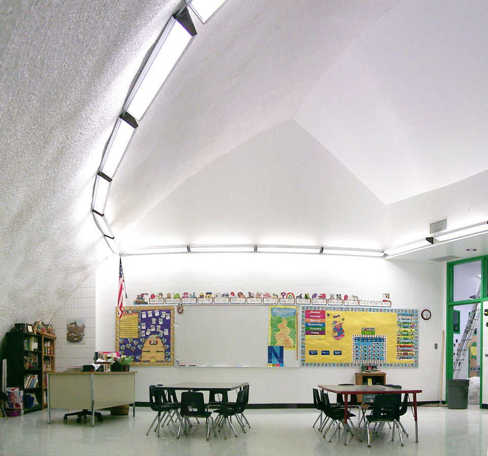 Friendly — Sufficient light and space provide a friendly learning environment for kindergartners at Pattonsburg Elementary.