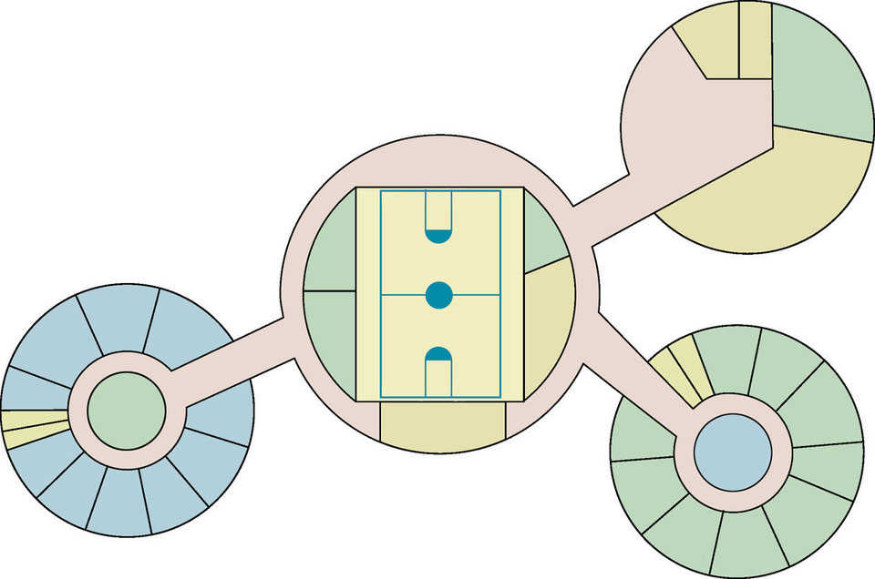 Artist's rendition — It shows the layout for the four domes.