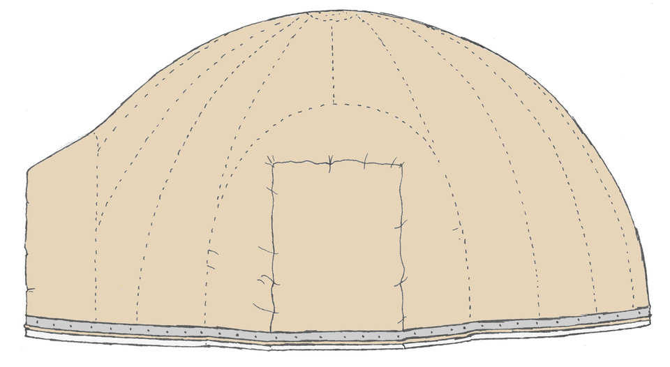 Augment Drawing — 2. Inflate the Airform. Leave it inflated for a day or two to stretch the Airform.