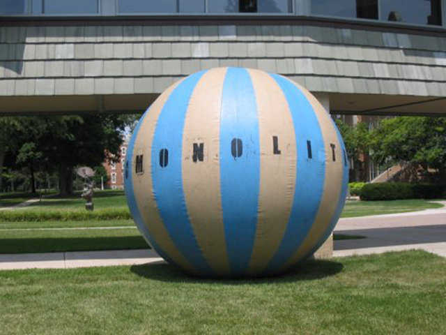 "OMEGAball — ""OMEGAball"" stands for Oversized, Monolithic, Enormous, Gigantic, Airformed Ball."